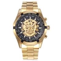 watch mens mechanical watch hollow skull mens watch fashion mens watch automatic mechanical mens watch