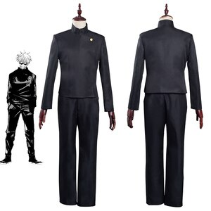 Anime Jujutsu Kaisen Gojo Satoru Cosplay Costume School Uniform Outfits Halloween Carnival Suit
