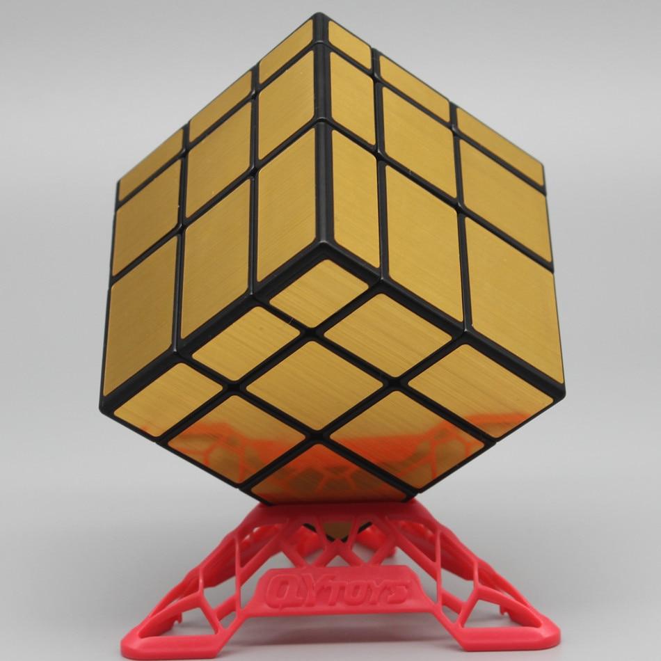 Qiyi-Cube miroir 3x3 vitesse, Cube magique 3x3, jouets éducatifs pour enfants, bloc miroir moulé, cadeau