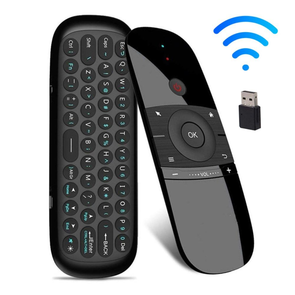 2.4GHz Learning Double-Sided Mini Wireless Keyboard Air Mouse IR Remote Control With USB Receiver Fo