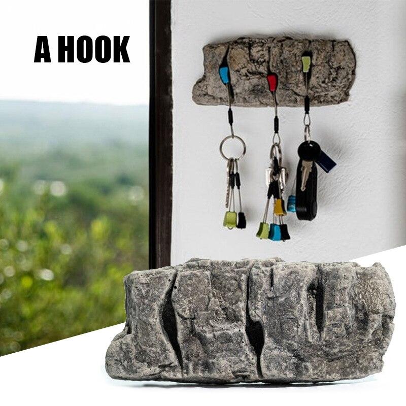 Soporte de llave de piedra de imitación, artesanía de resina Retro sin...