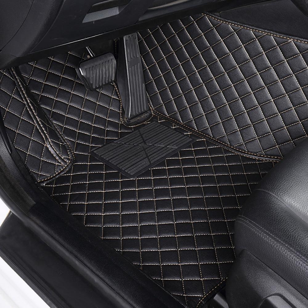 Leather Car Floor Mats For Jeep Grand Cherokee WK 2003 2004 2005 2006-2010 Custom Luxury Rugs Auto Interior Accessories 5seat enlarge