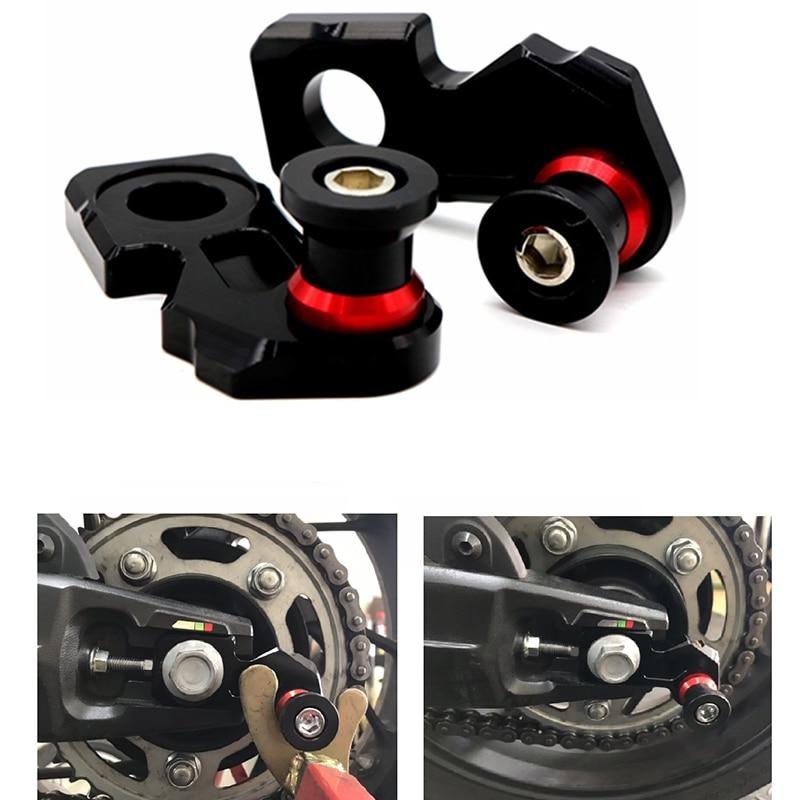 Motorcycle CNC Aluminum Chain Adjuster Block Rear Swingarm Spools for Honda CB650F CBR650F 2014-2019 CB650R 2019