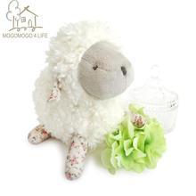 Luxury Junior Baby Lamb Stuffed Animal Toys Lovely Home Ornaments Dolls Kids Birthday Gift Floppy ear White Sheep Plush Toys