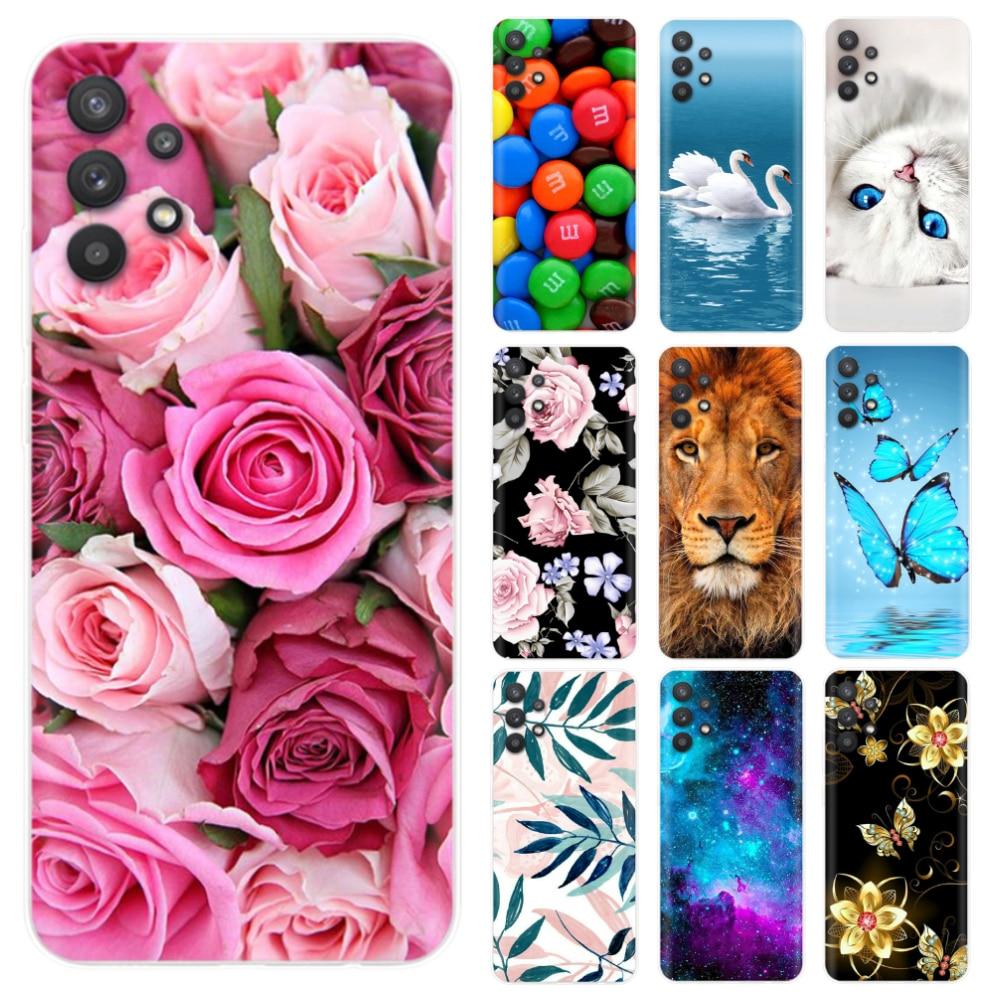 "aliexpress.com - For Samsung A32 4G Case Cover 6.4"" A325F Cute Silicone TPU Back Phone Cover for Samsung Galaxy A32 5G 6.5"" A 32 2021 bumper"