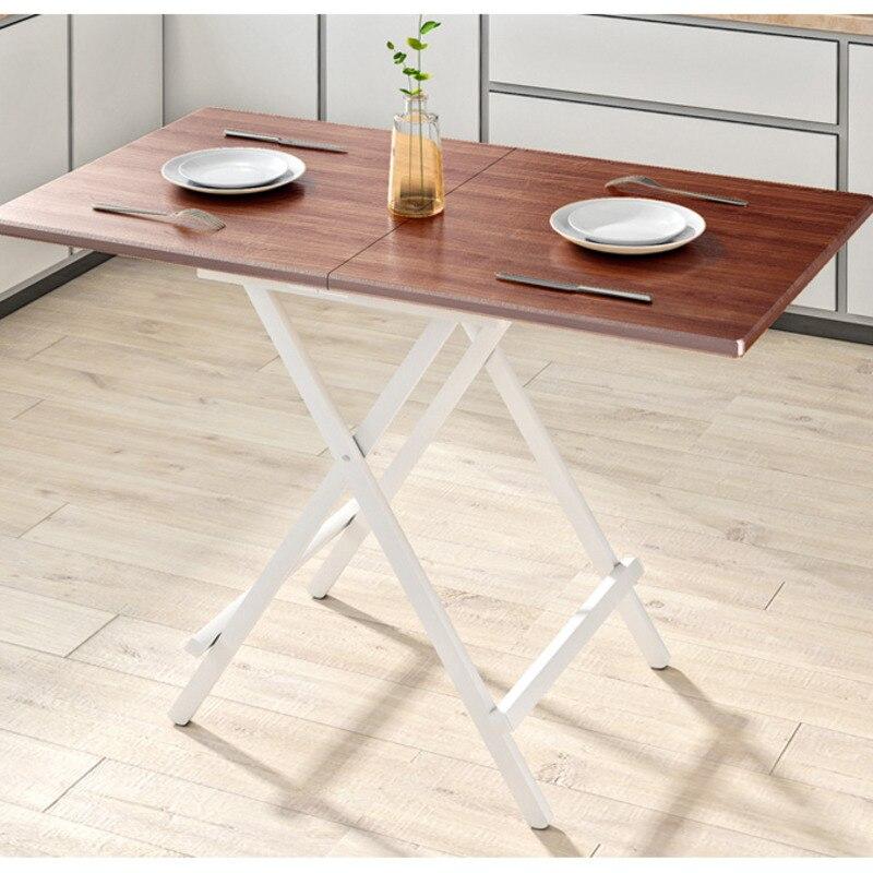 طاولة طعام قابلة للطي للمنزل ، صغيرة ، مربعة ، محمولة ، خارجية ، بسيطة