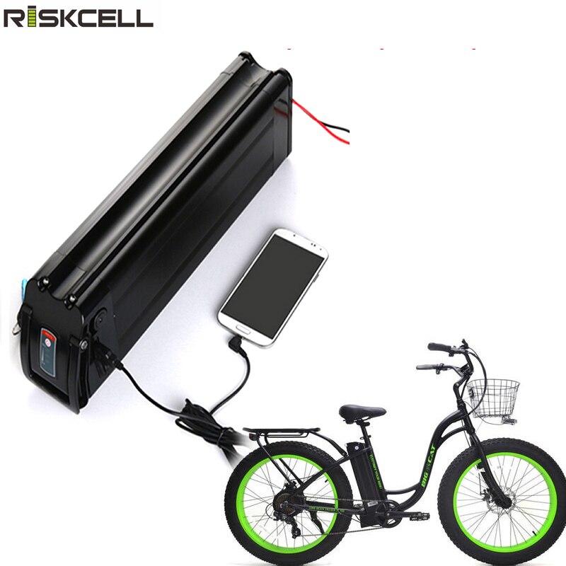 Batería USB para bicicleta eléctrica, pila de 48v, 18ah, 20ah, 1000W, 750W,...