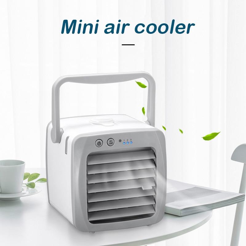 مبرد الهواء المحمول سطح المكتب سوبر هادئة مكيف هواء صغير الجليد برودة الهواء مروحة للمنزل مكتب غرفة Dtt88