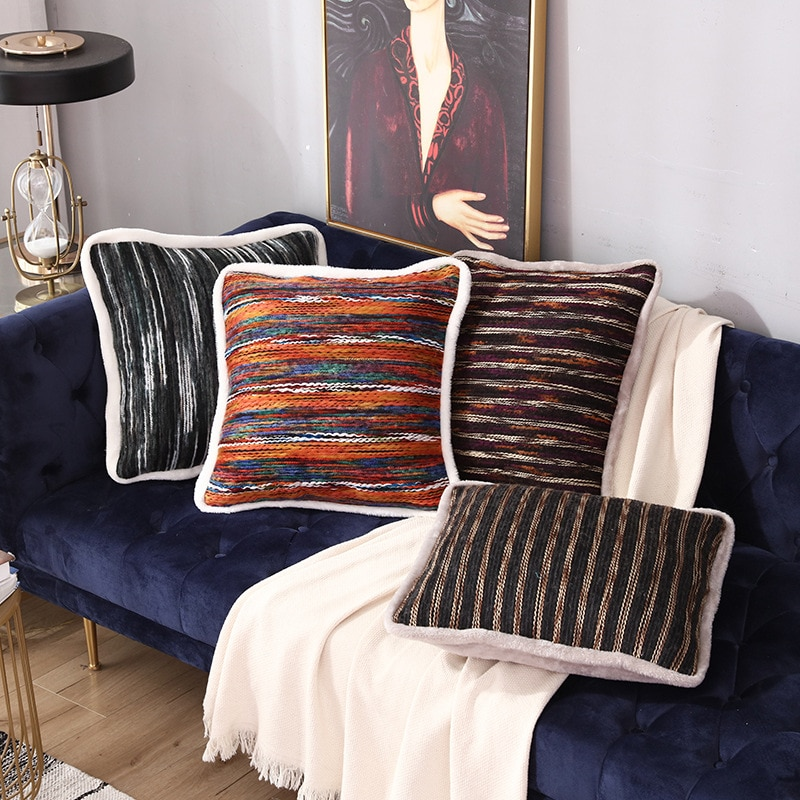 Gran oferta bordado almohada caso-de franela abrazo cojín cobertura con diseño suave cojín con personalidad funda decorativa para cojín