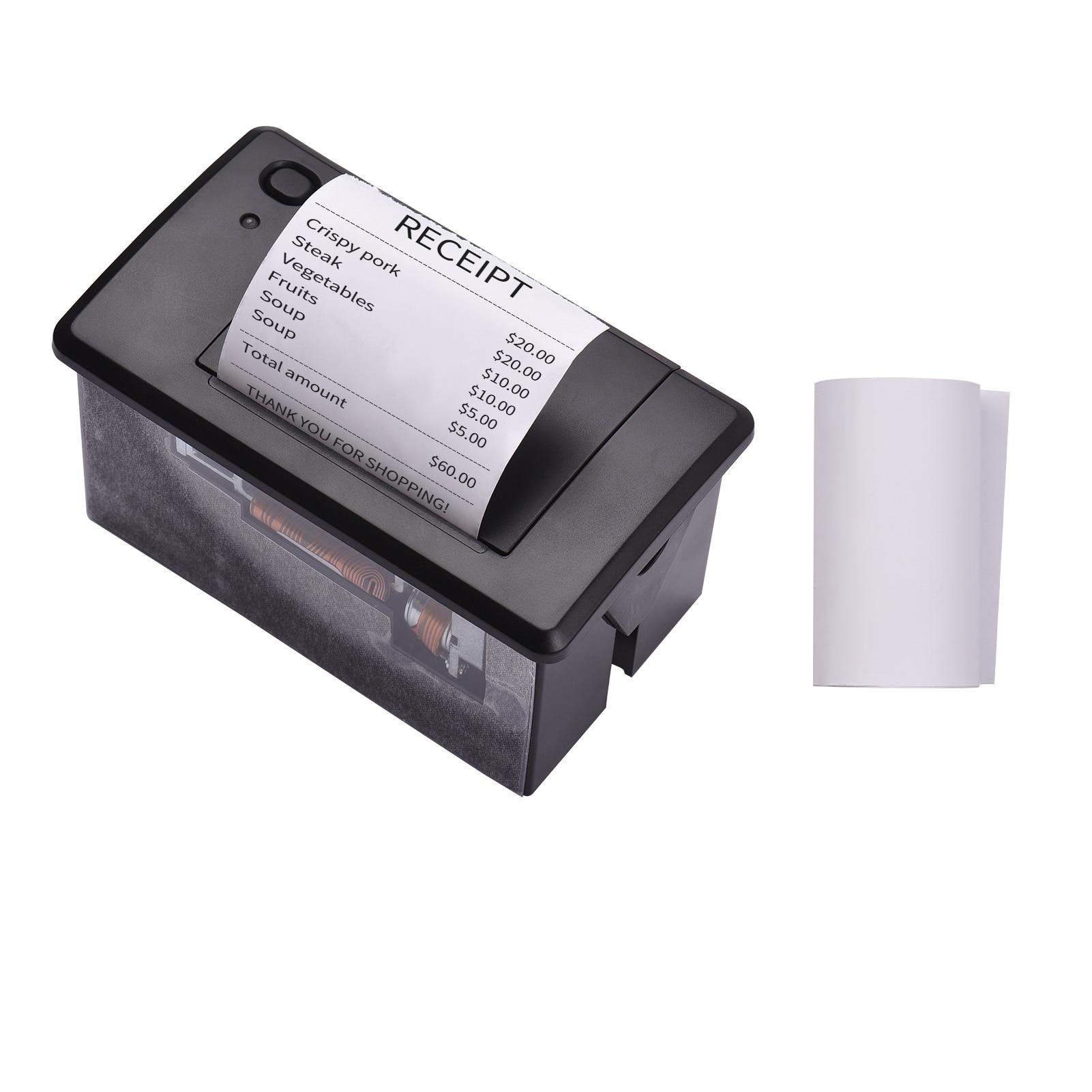 Aiebcy طباعة صغيرة 58 مللي متر جزءا لا يتجزأ من الحرارية استلام وحدة الطابعة منخفضة الضوضاء مع USB/RS232/TTL المنفذ التسلسلي لتسجيل النقدية