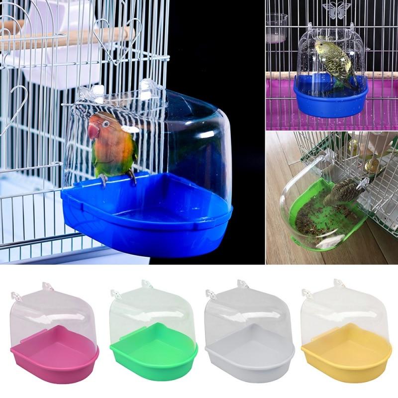 Фото - New Plastic Bird Parrot Bath Box Bird Shower Parakeet Hanging Bird Cages Bathtub Bird Bath Bird Water Bath Tub Pet Bird Bowl noah letner bird lessons