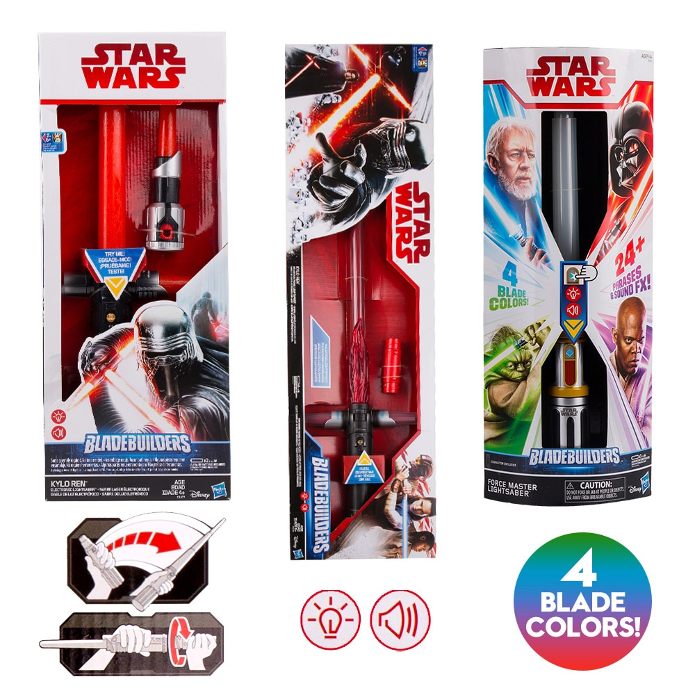 Sable de luz de Star Wars Para Niños, Hasbro último Jedi, serie...