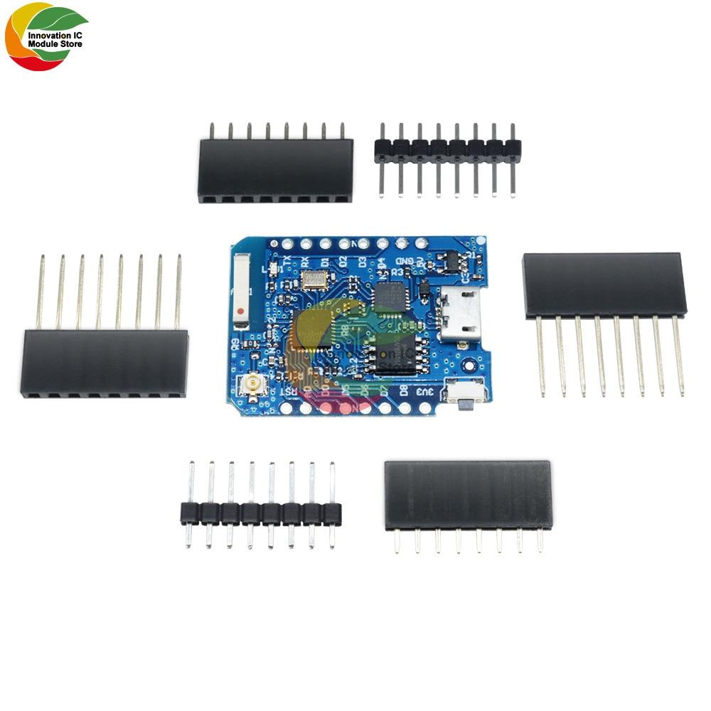 Ziqqucu D1 Mini Pro-16 ESP8266 Series WiFi Wireless Antenna CP2104 Micro USB TO UART IC Module Board