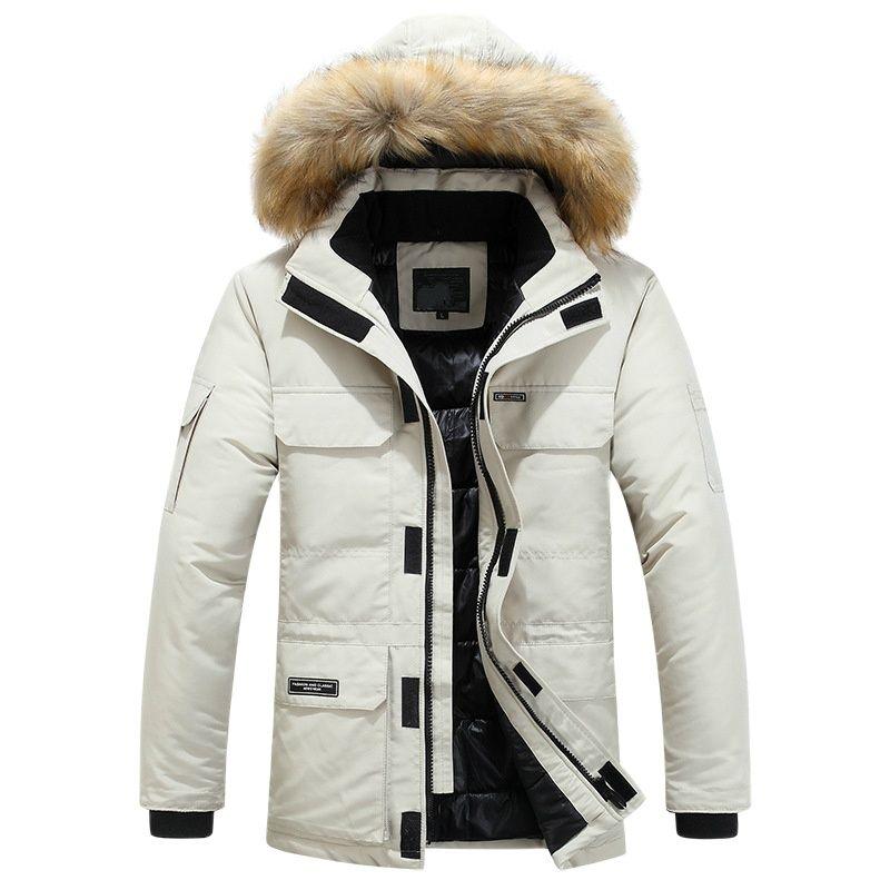 Мужские зимние пальто, модные парки с капюшоном, теплые зимние куртки, мужские толстые повседневные хлопковые мужские зимние куртки с отлож...