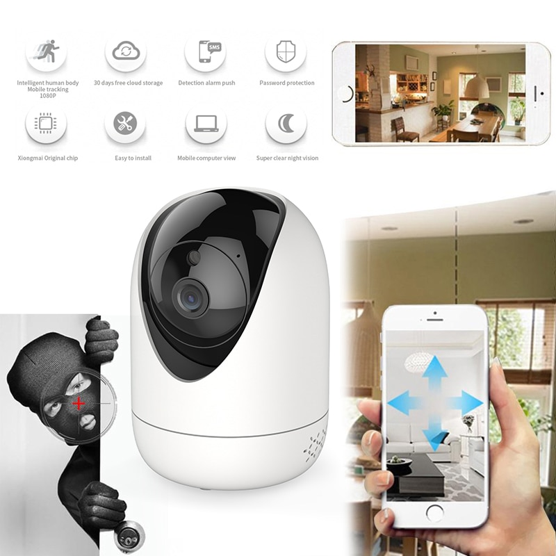 1080P WIFI PTZ IP Camera Wireless CCTV Home Security Cam IR Night PTZ IP Camera Security Cam Consumer Camcorders