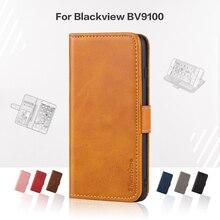 Откидной Чехол для Blackview BV9100, деловой кожаный роскошный чехол с магнитом, чехол-кошелек для Blackview BV9100, чехол для телефона