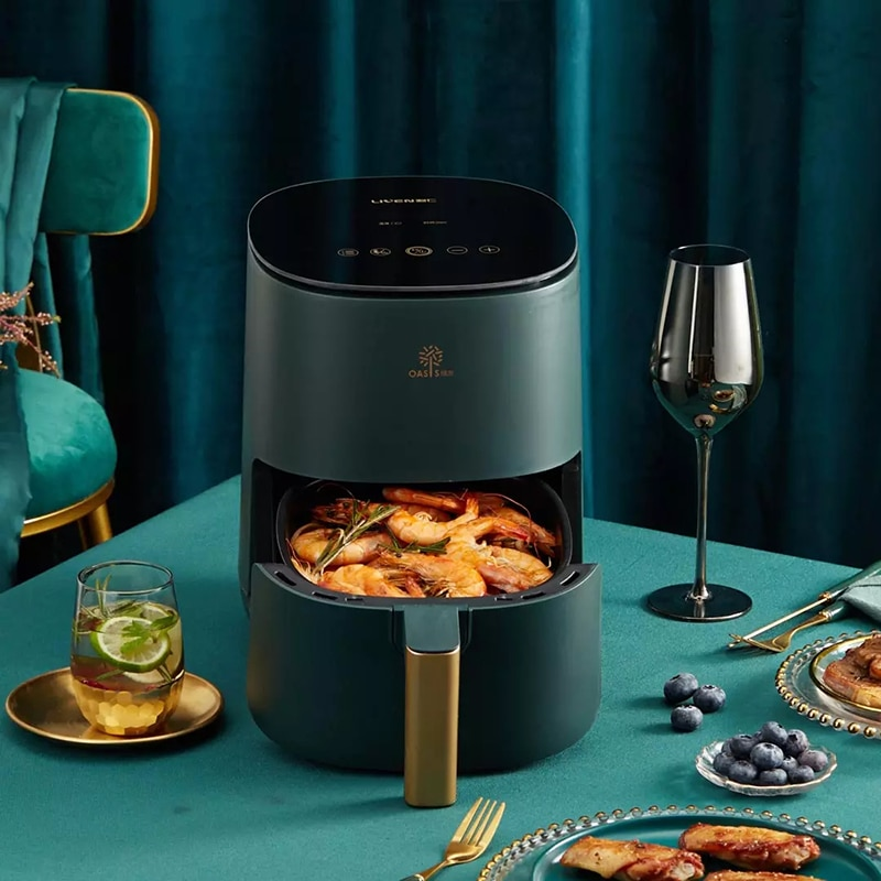 Youpin 2.5L Smart Air Fryer without Oil Home LED Touch Cooking Electric Deep Airfryer Cooker French Fries Pizza Chicken Fryer