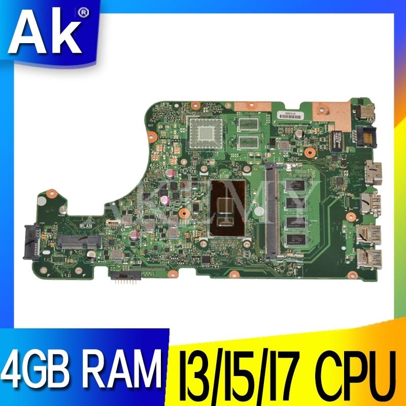 Akemy Para ASUS X555UAB X555UJ X555UF X555UQ X555UB A555U K555F F555U madre del ordenador portátil 4 GB de RAM 100% probado entre placas originales