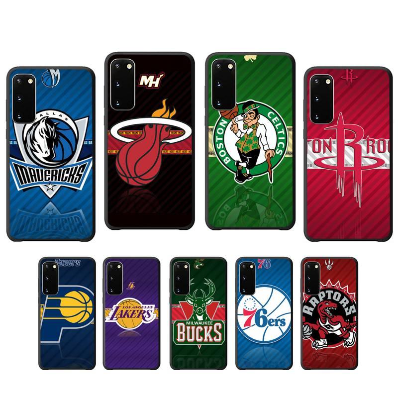 NBA Team Мягкий ТПУ черный чехол для Samsung galaxy s6 s7 edge s8 s9 s10 s10 lite s20 ULTRA plus coque