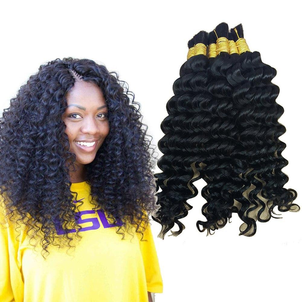 Бразильские человеческие волосы оптом, волосы для плетения, глубокие вьющиеся волнистые, без уточка, оптовая продажа, человеческие волосы о...