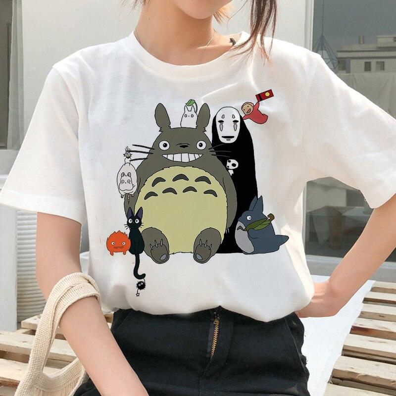 totoro Spirit Away t shirt Studio Ghibli femme Japanese cartoon Anime women tshirt t-shirt Miyazaki Hayao clothes female kawaii