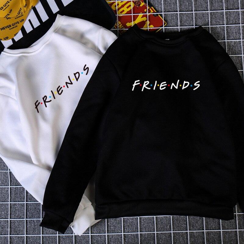 Womens Letters FRIENDS Print Long Sleeve Hoodie Sweatshirt Ladies Slouch Pullover Jumper Tops 5 Colors S M L XL Brand New 2020