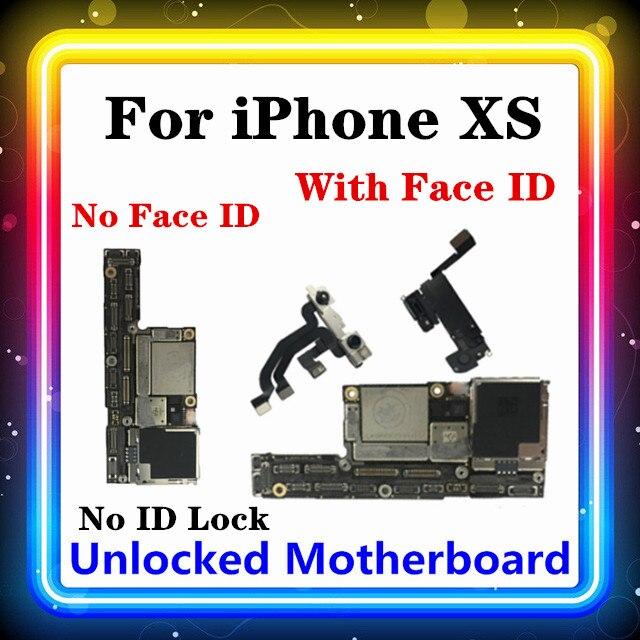 Placa base para iPhone XS sin/con ID facial desbloqueado, sin bloqueo de ID, placa base para iPhone XS con Chip OS instalado