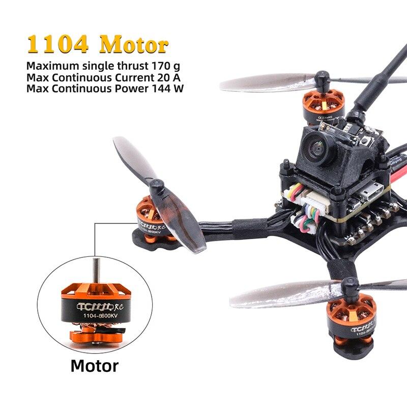 Tcmm rc 2.5 Inch Fpv Racing Drone 1104 motor 8600kv Carbon fiber high-thrust racing drone 1200TVL Camera Rc Helikopters enlarge