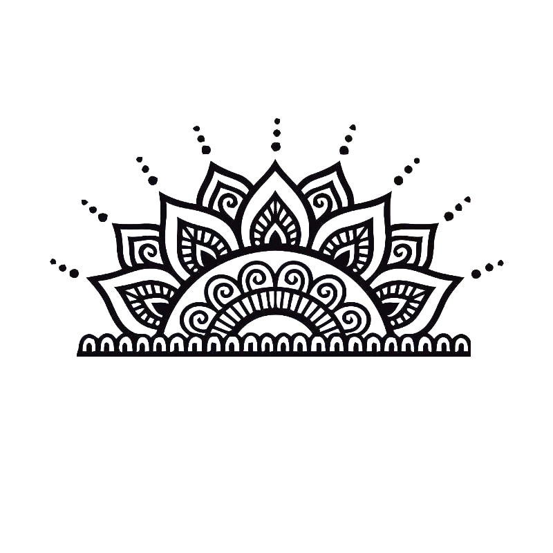 Vinilo decorativo Vinilo calcomanías para pared Mandala símbolo de Yoga Vinilo pegatinas...