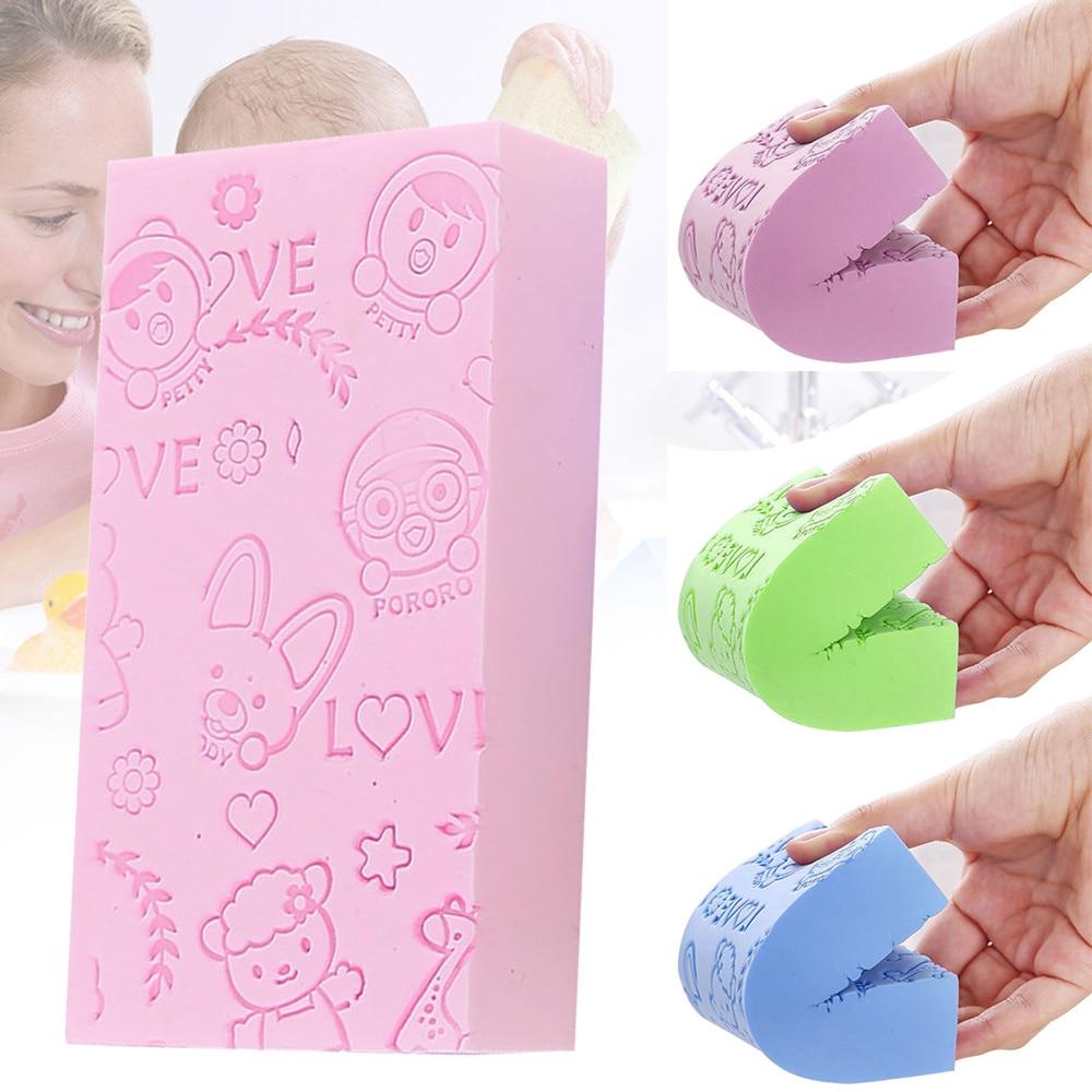 Suave figura de dibujos animados Scruber esponja para baño tipo cepillo frotando depurador para niño infantil lindo baño herramientas escova de lavar banheiro