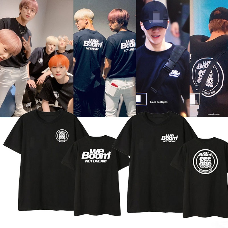 ALLKPOPER KPOP álbum de NCT DREAM WE BOOM mismo o-cuello Camiseta de manga corta Camisetas para mujeres hombres coreanos suelta verano tops Unisex