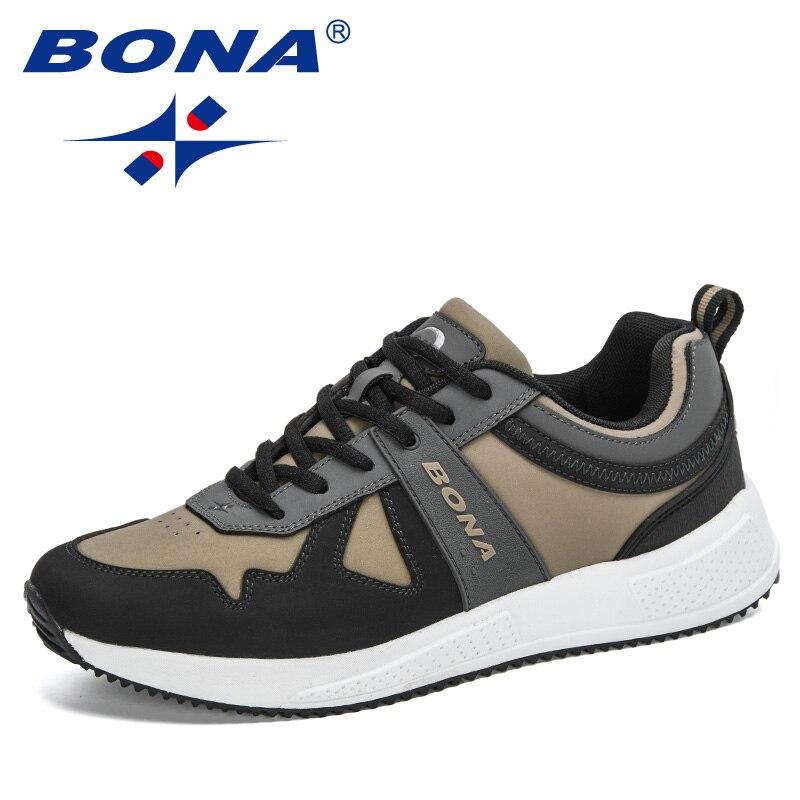 BONA-أحذية رياضية شبكية مسامية للرجال ، أحذية مسطحة غير رسمية للمشي ، عصرية ، ترفيهية ، مجموعة جديدة ، 2021