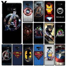 Téléphone Yinuoda Marvel Avenger IronMan Captain America pour Samsung Galaxy A50 Note7 5 9 8 10 Pro J5 J6 Prime J610 J6Plus J7DUO