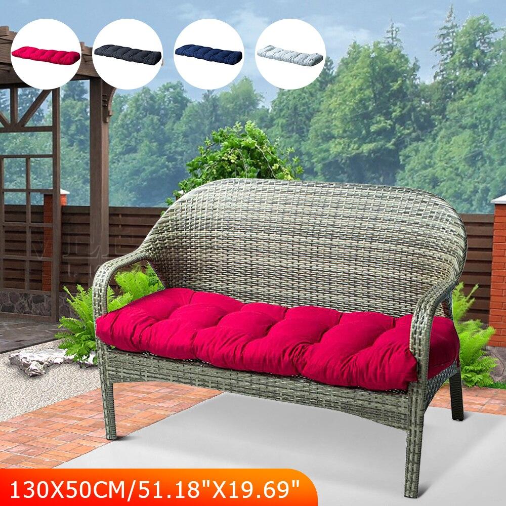 130x50CM Recliner Cushion Outdoor Patio Garden Bench Cushion Swing Cushion Rattan Chair Cushion Soft Comfortable Long Cushion