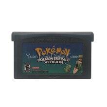 Para Nintendo GBA cartucho de videojuego consola tarjeta Poke Series Moemon Emerald Idioma Inglés versión estadounidense