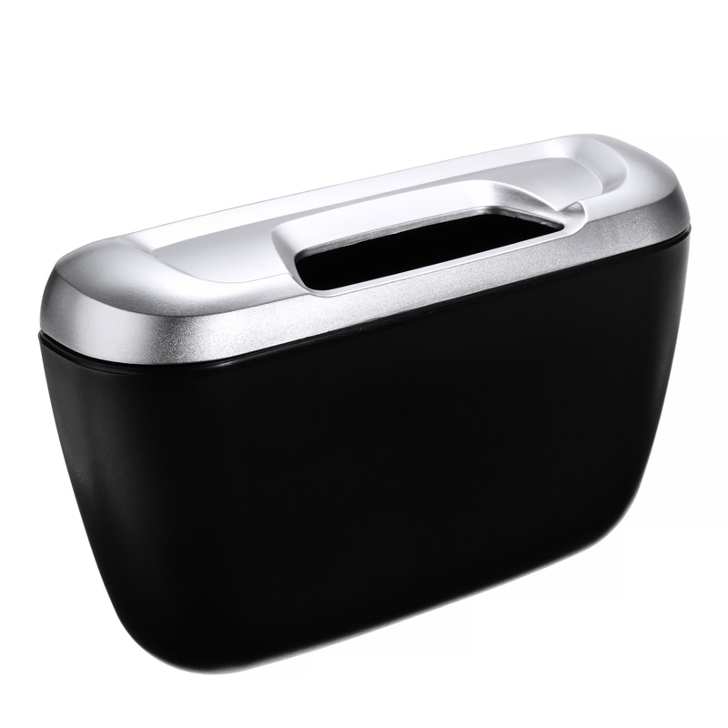 Mayitr 1pc abs porta do carro de volta assento van lixo bin caixa da aleta lixo titular envolvente lata de lixo recipiente