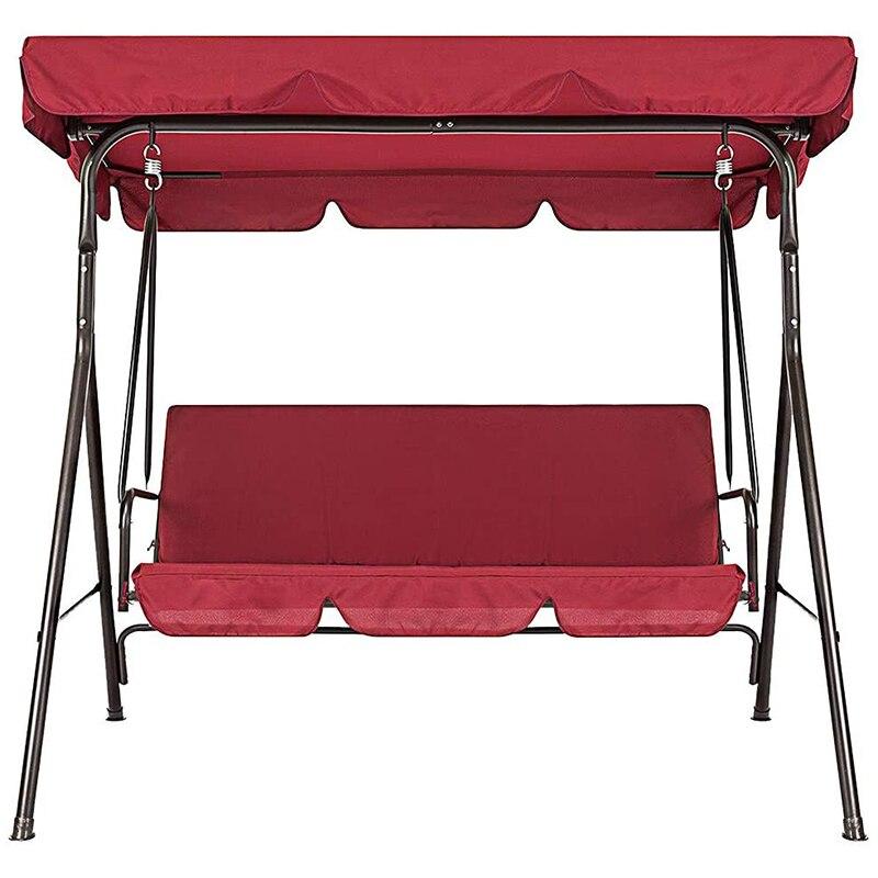 Терраса для качелей стульев 2 шт./компл. Универсальный садовый стул пыле 3-Seater напольные покрытия (красный)