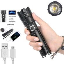 Super puissant LED lampe de poche tactique en plein air chasse arme lumière torche tactique USB Rechargeable étanche torche Scout lumière