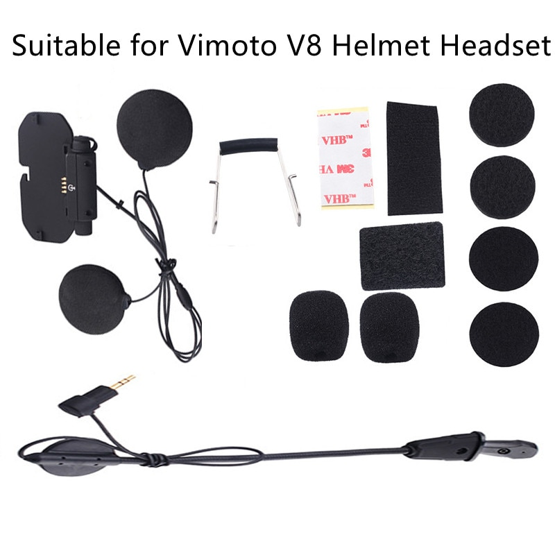 Новинка, аудио и микрофон, комплект для оригинального мотоцикла Vimoto V8, Bluetooth, шлем, гарнитура, базовые аксессуары, комплект, мягкие наушники, наушник, микрофон
