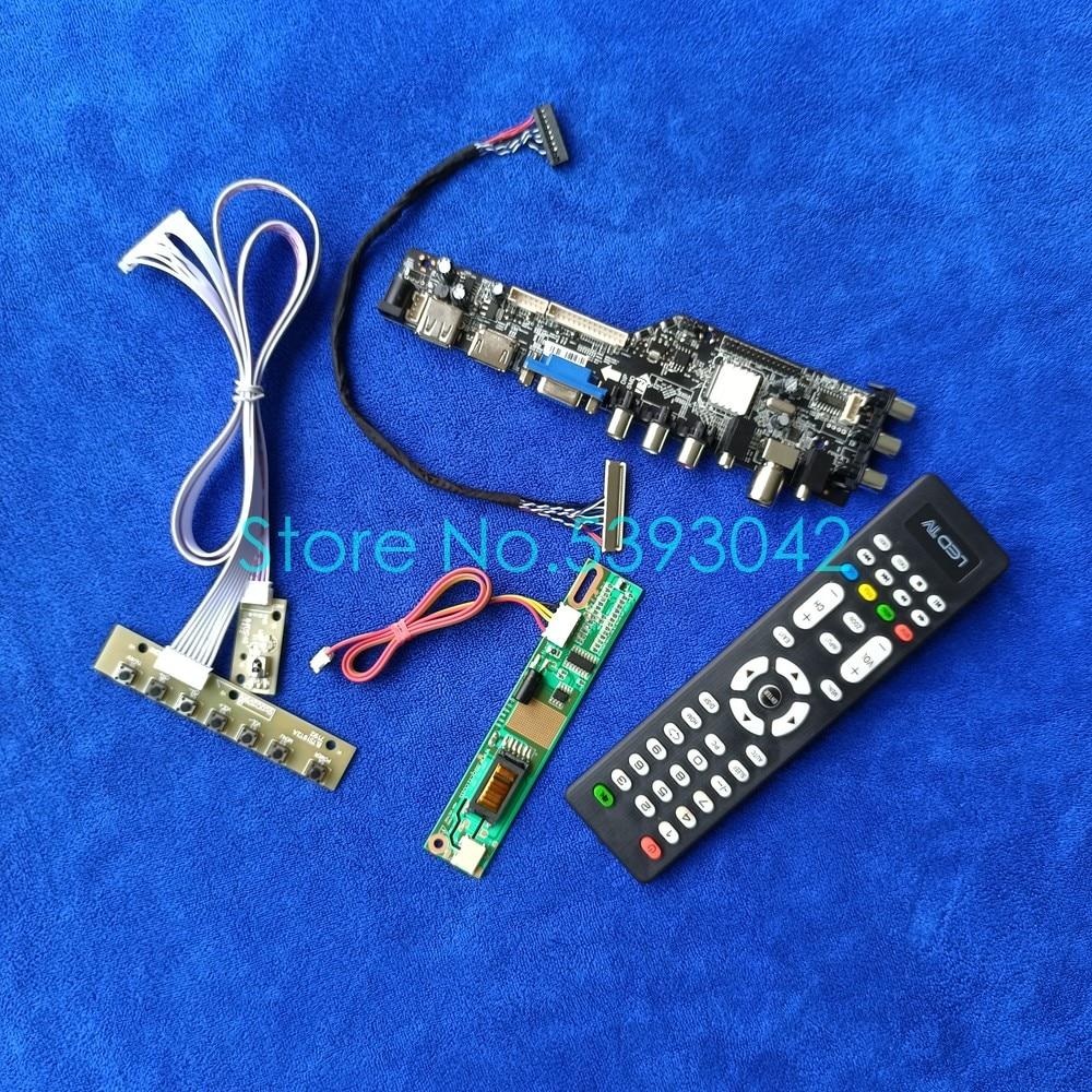 مجموعة لوحة تحكم USB ، لـ B170PW03 V.0/V.1/V.2/V.3/V.4/V.5/V.6/V.7/V.8/V.9 1440*900 1CCFL LVDS 30-Pin 3663