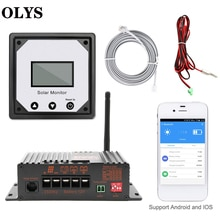 OLYS MPPT 20A 12V Solar Charge Controller Intelligent Solar Controller For RV Boat Car PV Solar With Temperature Sensor Cable