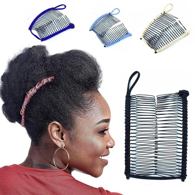 Pinzas de pelo para mujer de plátano mágico peines elásticos profesionales de doble diapositiva Horquillas para el pelo de mujer