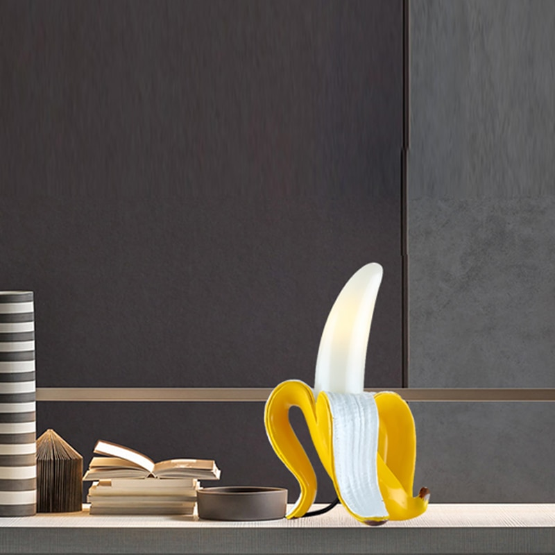 Italy Seletti Banana Night Lights Lamps Modern Living Room Glass Led Table Lamp Bedroom Bedside Desk Light Home Deco Lighting enlarge