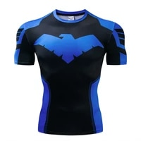 2021 hot new night 3d printed t shirt mens compression fitness t shirt superhero top clothing short sleeved fitness t shirt