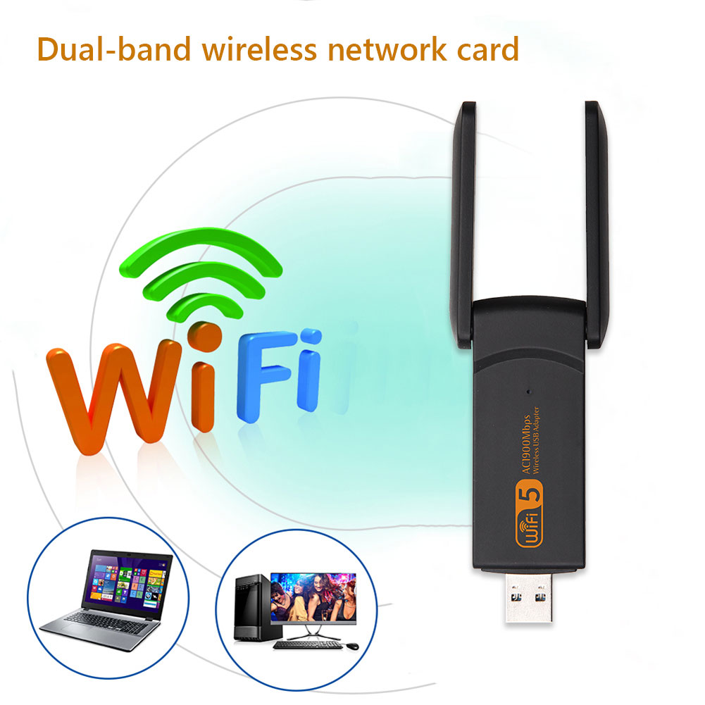 Network Card Wireless Card Wireless RTL8814 Wifi Adapter USB 3.0 Antenna 1900Mbps 2.4/5.8GHz Dual Band Network Card