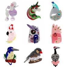 Broche ZiccoWong de moda bonito Animal cabra unicornio pájaro Pins para mujer chica dibujo acrílico nuevo diseño insignia joyería para solapas regalo