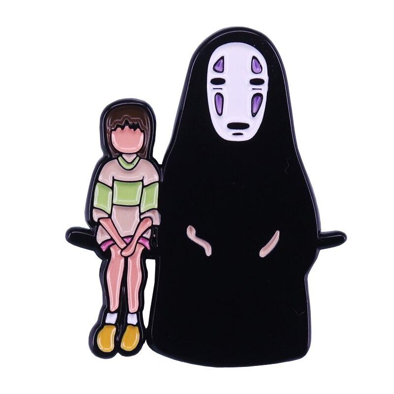 Chihiro et sans visage insigne Chihiro inspiré meilleurs amis cadeau