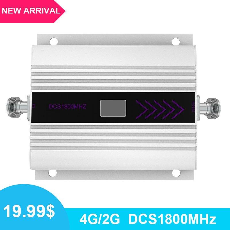 Mini 2G 4G 1800 LTE DCS repetidor amplificador de señal celular 4G 1800mhz Banda 3 Amplificador de señal móvil pantalla LCD amplificador/
