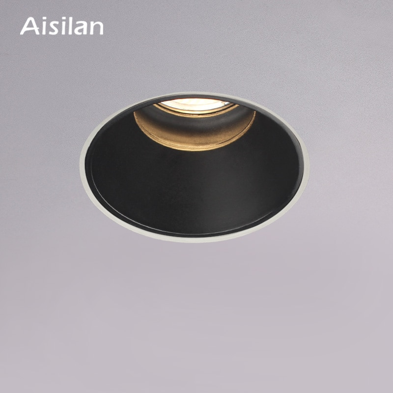 Aisilan LED recessed downlight Frameless anti-glare for living room corridor bedroom cutout size 8cm spot light lamp