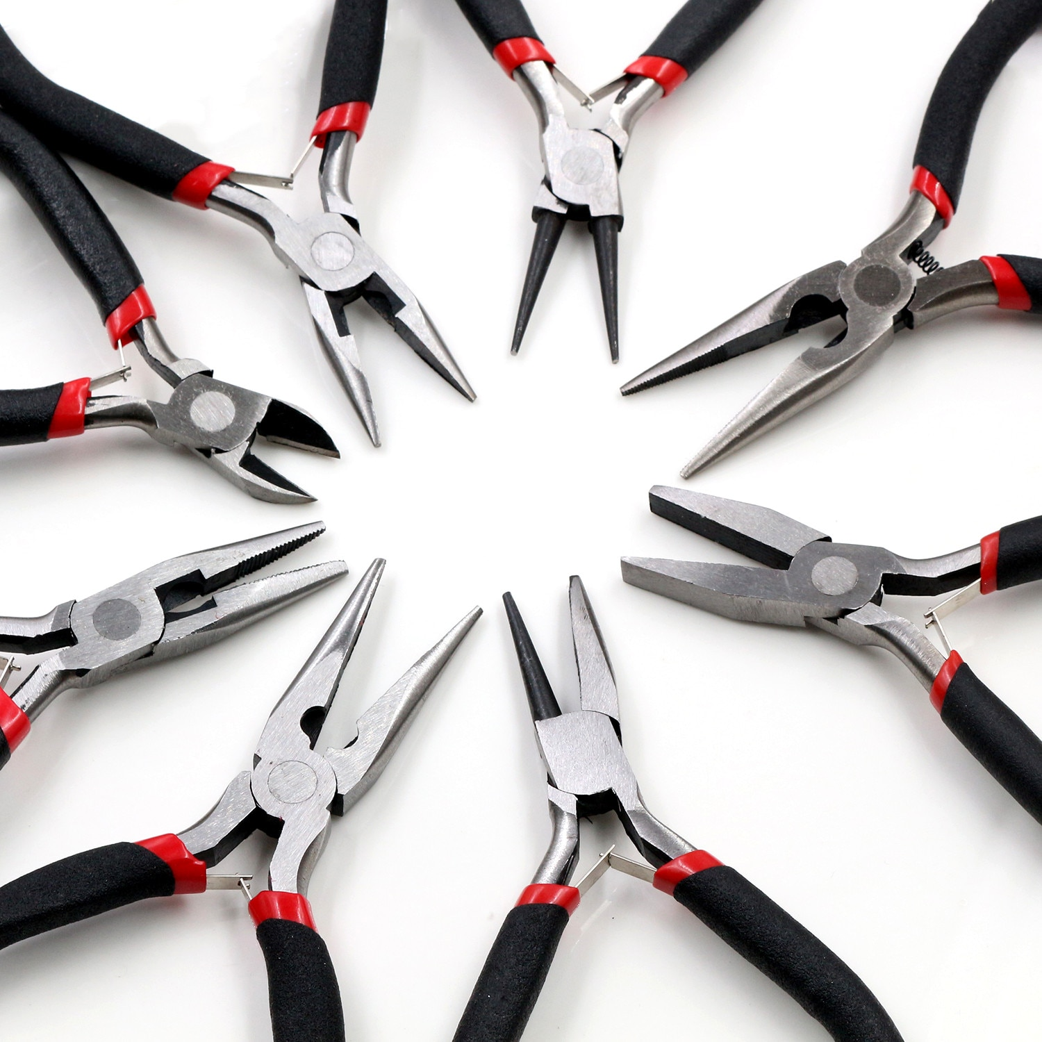 1 Piece Stainless Steel Needle Nose Pliers Jewelry Making Hand Tool Black 12.5cm